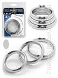 Push Steel - Heavy Duty Donut Cockring 3-Ring Set